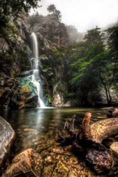 These 10 Hidden Waterfalls in Southern California Will Take Your Breath Away California Camping, California Vacation, California California, Tourist Places In California, Waterfalls In California, Hikes In Southern California, Sierra Madre California, Sturtevant Falls, Places To Travel