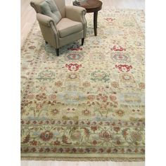 Found it at Wayfair - Mahal Hand-Knotted Gold Area Rug