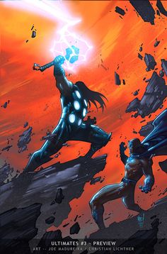 Joe Madureira - Ultimates Dude does some of the most EPIC comic art!