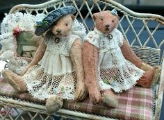 Cordelia & Colette, made for Teddy Bears of Witney
