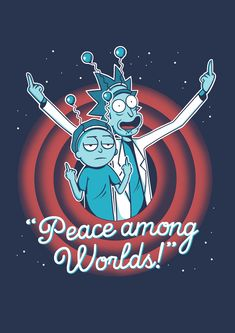 Wallpaper Rick and Morty iPhone   2018 iPhone Wallpapers   Rick and     Moletom Basico Peace Among Worlds   Unissex