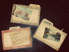 Vintage Inspired (and brilliant) invites