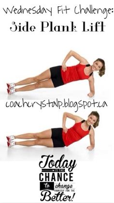 Wednesday Fit challenge: Side Plank Lifts