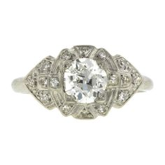 Art deco style engagement ring. A bling a ring ring