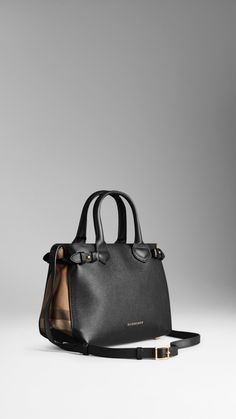 The Small Banner in Leather and House Check   Burberry Burberry, Banner, Tote  Bag 03f23e81e7