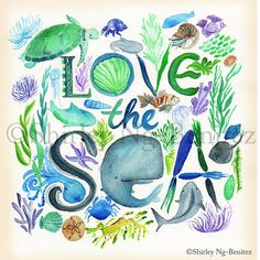 Love the Sea Print by smileshop on Etsy