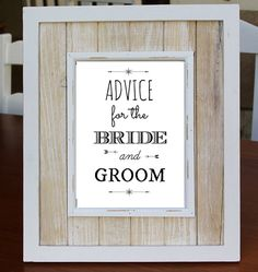 Advice For The BRIDE AND GROOM Digital Download Art Print, Love Quote, Instant Download, Wedding Gift, Guest Book Alternative