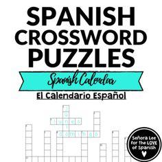 32 best spanish crosswords crucigramas images on pinterest spanish calendar crossword days of the week months of the year m4hsunfo