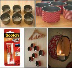 Otra idea Scotch para crear una decoración para tu cuarto con materiales reciclados, usa el Super Glue para fijar bien los elementos que uses