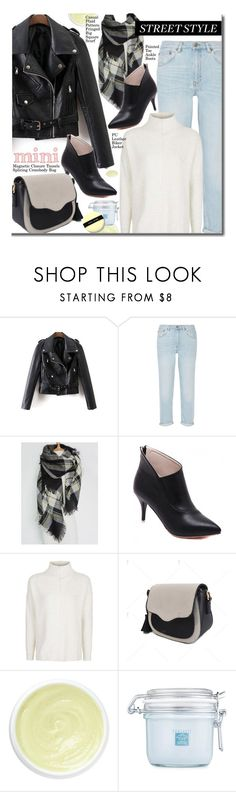 """Street Style"" by beebeely-look ❤ liked on Polyvore featuring M.i.h Jeans, Topshop, Eve Lom, Borghese, Bobbi Brown Cosmetics, StreetStyle, streetwear, Minime, falltrend and twinkledeals"