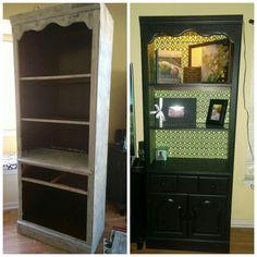 Painted Shelves, VINTAGE FURNITURE PAINT,Pitch Black  Www.vintagefurniturepaintinc.com Www.