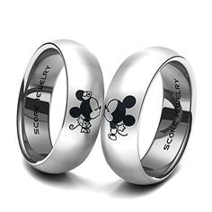 Set Tungsten Bands With Domed Edge Mickey And Minn Http Www Dp B019nb6sti Ref Cm Sw R Pi G5voxb0vkhcyt