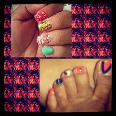 #uñas #colorblock #nailsdesign
