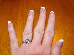 Picture of How to wrap your nails, and do a French Manicure.
