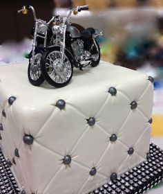 We Do Harley Davidson Motorcycle wedding cake topper we do wedding