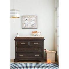 Stone & Leigh Chelsea Square Single Dresser in Raisin  youth furniture / nursery furniture / bedroom furniture / children's furniture / brown dresser