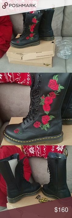 NEW Dr Martens Vonda rose embroided combat boots NEW Dr. MARTENS Vonda rose embroided combat boots tried on once stayed in attic size 7 paid 175 plus tax  NOT ELIGIBLE FOR SALES AT ALL  NO TRADES   NO OFFERS   PRICE IS FIRM SINCE POSH TAKES 20% FROM SELLERS ALREADY LOSING $70.00. Dr. Martens Shoes