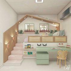 Bed For Girls Room, Cool Kids Bedrooms, Kids Bedroom Designs, Bedroom Decor For Teen Girls, Cute Bedroom Ideas, Room Design Bedroom, Cute Room Decor, Kids Room Design, Home Room Design
