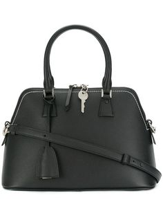 8a1b31de92ae Maison Margiela Medium 5ac Black Drummed Convertible Calfskin Leather Tote.  Get one of the hottest