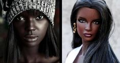 """Duckie Thot is an Australian model that is often called """"Black Barbie."""" Today, she has millions of fans, her photos have thousands of likes, and the most f Lama Faché, Discount Prom Dresses, Becoming A Model, Next Top Model, Perfect Prom Dress, Black Barbie, Australian Models, Youtube, Attractive People"""