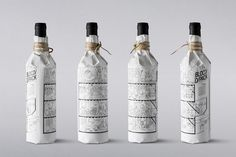 Illustrated Wine Bottle Wraps - BLOCD/ Promotional Packaging Pictures the Entire Design Team (GALLERY)