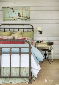 White Country Guest Bedroom