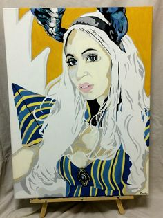 "http://hautecosplay.com  cosplay of Mirajane Strauss She Devil 18""x24"" acrylic & oil blend on canvas 2015 by Jamie Roxx"