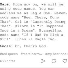 Image result for the red queen mare and cal