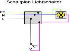 Schaltplan einer Wechselschaltung mit zwei Lampen | Elektrische ...