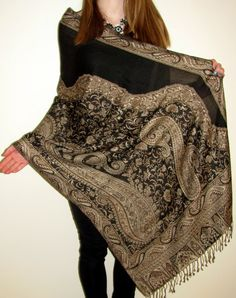 Wonderful Cashmere Pashmina Silk Shawl