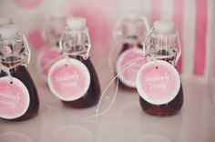 Bubblegum Pink Favor Tags Southern Fried Paper nbarrett photography.. for my sweet baby girl