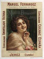 Cartel de Manuel Fernández : cosechero y exportador de vinos