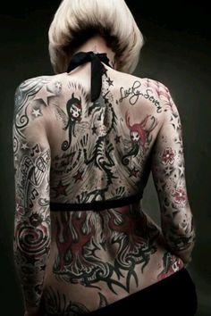 Amazing Full Back Tattoo, So Much! | Tattoo Ranking