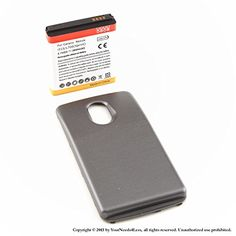 YN4L 3800mAh extended battery for Samsung Galaxy Nexus L700 Sprint  Black cover >>> Read more reviews of the product by visiting the link on the image.