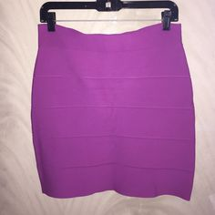 Purple Bandage Skirt Bcbgmaxazria bandage skirt. Worn once. It's wrinkled because its been folded in my drawer. BCBGMaxAzria Skirts Mini