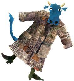 """"""" La mia mucca """"  Gianni Rodari -  Collage"""