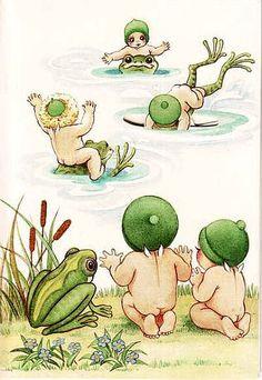 The Gumnut Babies as drawn by May Gibbs, Australian author and illustrator Australian Animals, Australian Artists, Crazy Girls, Flower Fairies, Baby Art, Magical Creatures, Children's Book Illustration, Botanical Art, Beautiful Artwork