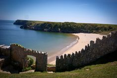 Barafundle Bay Pembrokeshire. A bit of a walk from the car park to reach the beach ... but how rewarded you are!