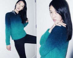 a pair and a spare . diy fashion: DIY INSPIRATION - DIP DYED KNIT