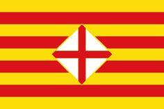 Bandera de la Provincia de Barcelona.