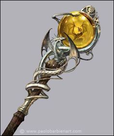 What are some beautiful fantasy medieval weapons? Staff Magic, Dragon Staff, Wizard Staff, Fantasy Wizard, Dungeons And Dragons Homebrew, Dragon Jewelry, Medieval Weapons, Weapon Concept Art, Fantasy Kunst