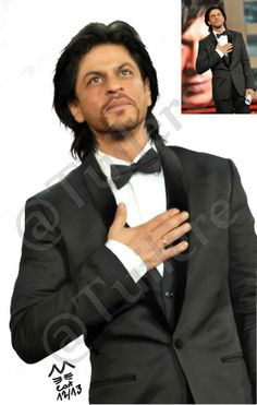 Embedded image permalink-(Corrected) Digital painting of@iamsrk. Photographer unknown.