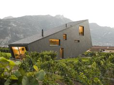 Mountain Home Design in Switzerland mimics the mountains