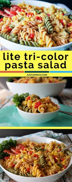 easy pasta salad recipe that's perfect for summer parties! just 5 easy steps!
