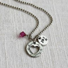 Marathon Running Necklace Love to Run 262 by ShineOnSportyGirl, $26.00