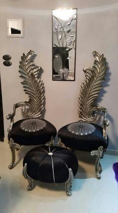 Single Sofa, Vintage Furniture, Sofas, Ottoman, Armchair, Luxury, Chairs, Art Deco, Decor Ideas