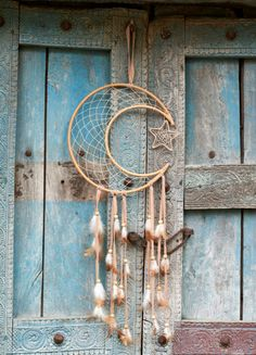 Rattan Crescent Moon Dreamcatcher. #earthboundtrading