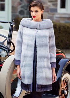 NAFA Sapphire and Blue Iris Mink Fur Coat