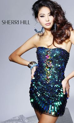 I love this. Strapless Multi-Color Sequin Party Dress SH-2836
