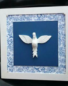 Quadro grande azul Divino Espírito Santo